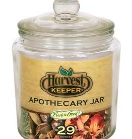 Harvest Keeper Harvest Keeper Glass Storage Apothecary Jar w/ Sealed Lid - 29 oz (24/Cs)