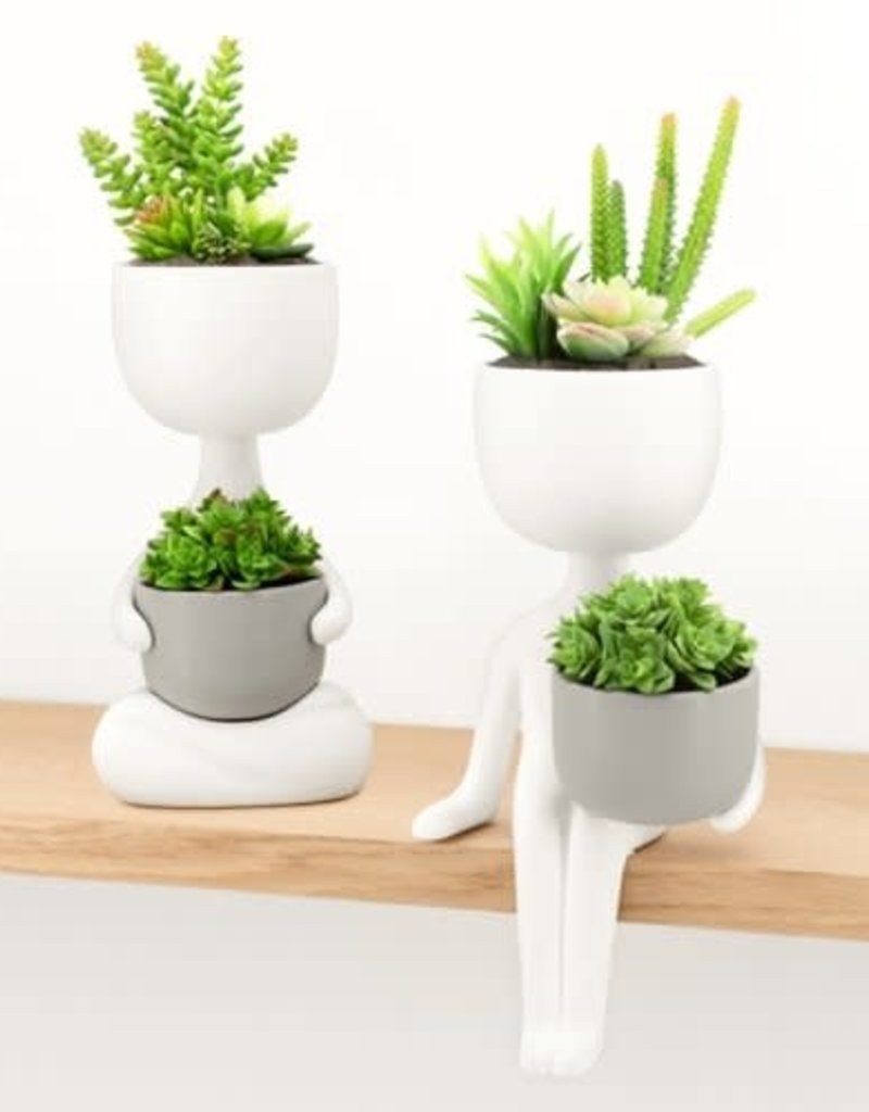Plant Pal Zen Pose Ceramic Planter