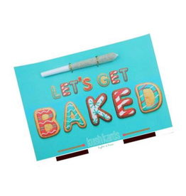 "Kushcards KushKards ""just add a pre-roll"" Greeting Card - Let's Get Baked"