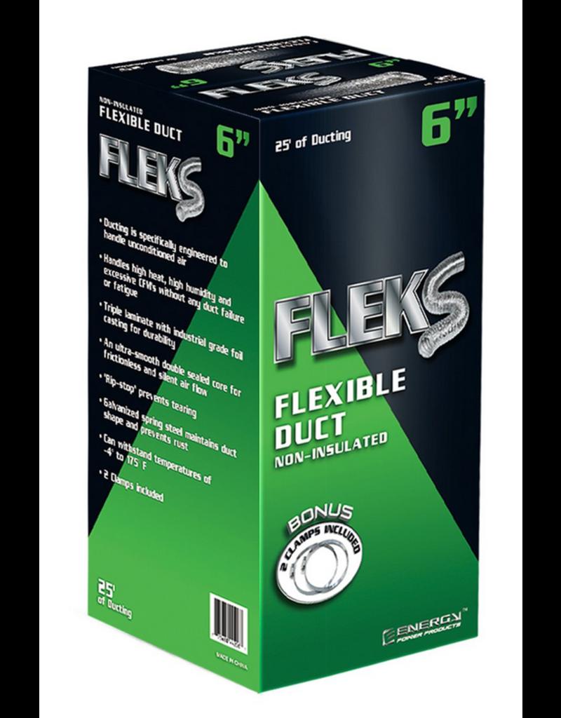 "Fleks Fleks Ducting Aluminum 6"" W / 2 Clamps"