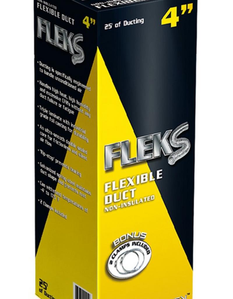 "Fleks Ducting Aluminum 4"" W / 2 Clamps"