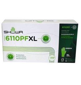 Showa Showa Nitrile Gloves Biodegradable Powder Free XL (100)