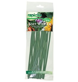 "Lusterleaf LUST Soft Wire Tie Strips - 8"" (20 Pack)"
