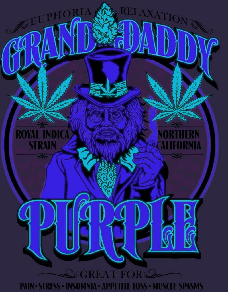 GrandDaddy Purple Strain Zip Hoodie Medium
