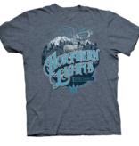 Northern Lights w/black light T-Shirt Russian Blue XLarge