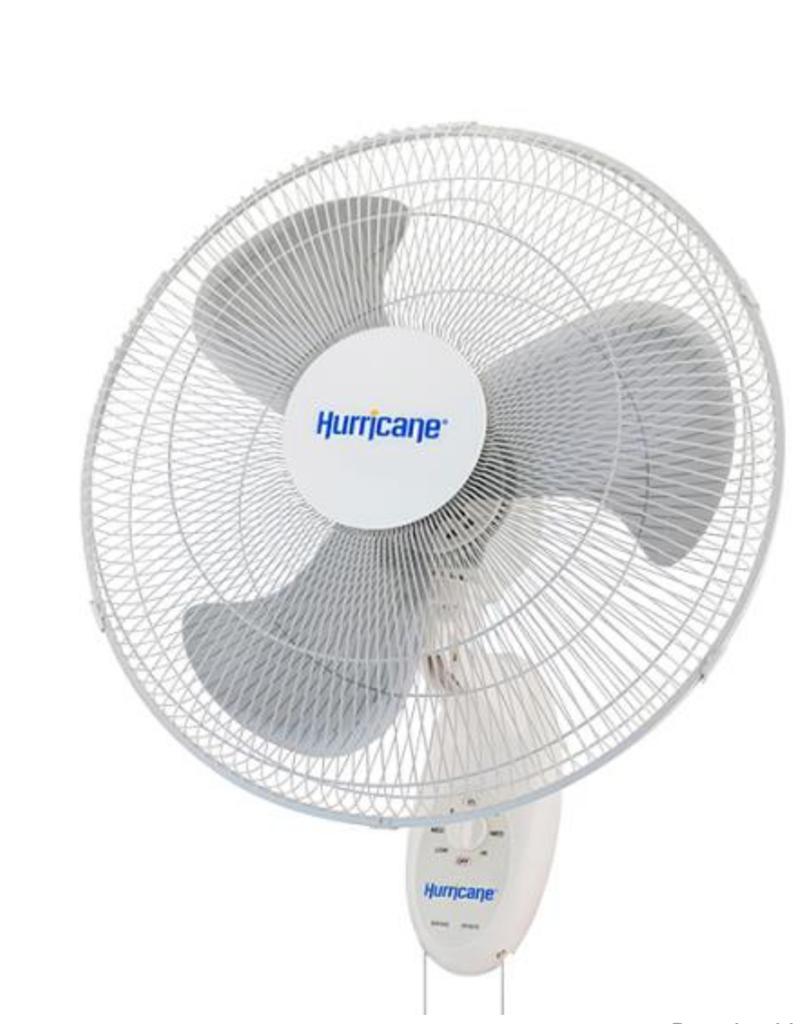 Hurricane Supreme Oscillating Wall Mount Fan 18 in