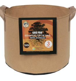 Gro Pro Gro Pro Essential Round Fabric Pot w/ Handles 3 Gallon - Tan