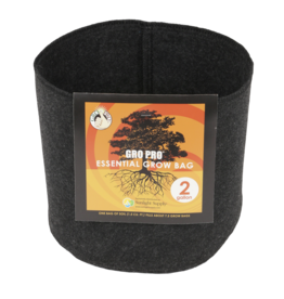 Gro Pro Gro Pro Essential Round Fabric Pot - Black 2 Gallon