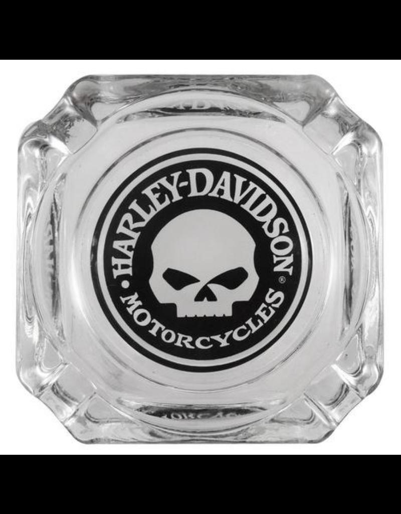 "3.75"" x 3.75"" Decal Glass Ashtray - Harley Davidson"