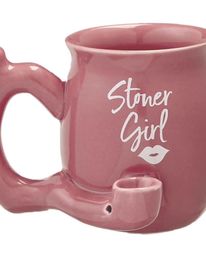 Premium Roast & Toast Ceramic Mug w/ Pipe - Stoner Girl