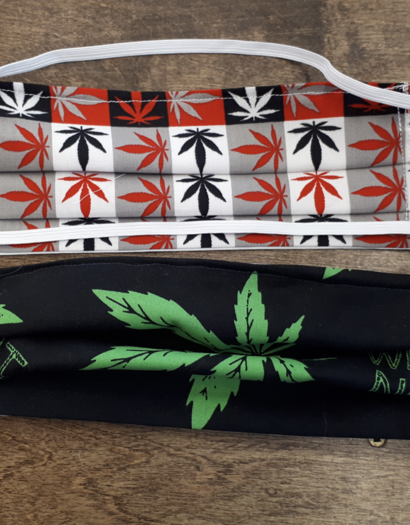 Face Mask Cloth - Cannabis - All Proceeds go to charity