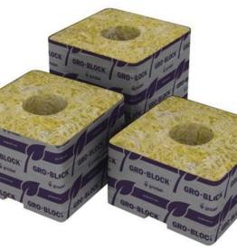 Grodan Grodan Delta 10 - 4 in Block 4 in x 4 in x 4 in w/ Hole