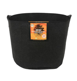 Gro Pro Gro Pro Essential Round Fabric Pot w/ Handles - 20 Gallon - Black
