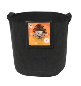 Gro Pro Gro Pro Essential Round Fabric Pot w/ Handles 7 Gallon - Black