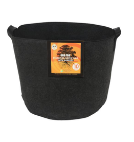 Gro Pro Gro Pro Essential Round Fabric Pot w/ Handles 10 Gallon - Black