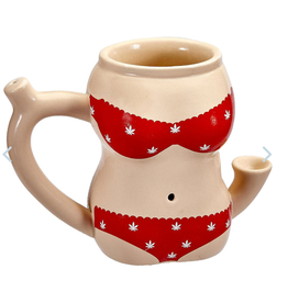 Roast & Toast Ceramic Pipe Mug | 10oz | Bikini Body - RED