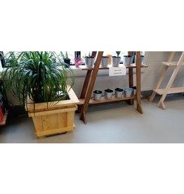 Hand Crafted Wood Planter / Medium