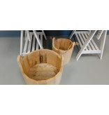 Hand Crafted Wood Pail / Large