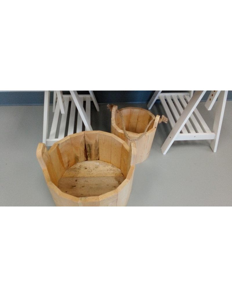 Hand Crafted Wood Pail / Medium