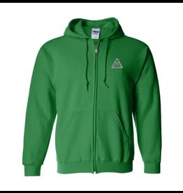 Full Zip Hoodie : Safety Meeting Green - 3XL