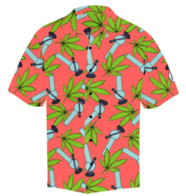 Hawaiian Shirt Wild Weed Coral  - XL
