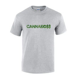 T Shirt Cannaboss. Grey - Large