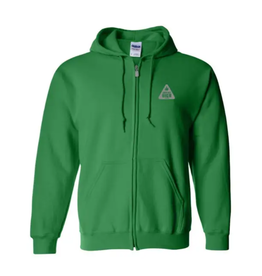 Full Zip Hoodie : Safety Meeting Green - XL