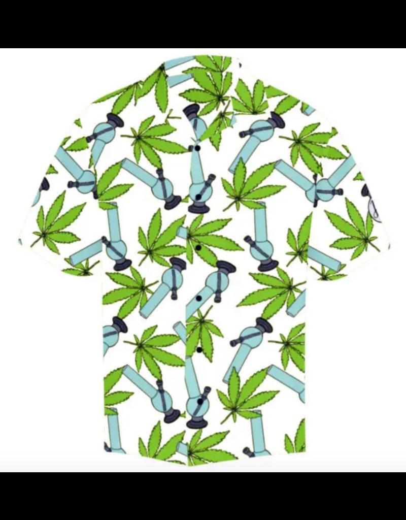 Hawaiian Shirt Wild Weed White - Large
