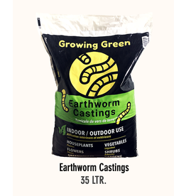 Growing Green Earth Worm Castings - 35 Liters