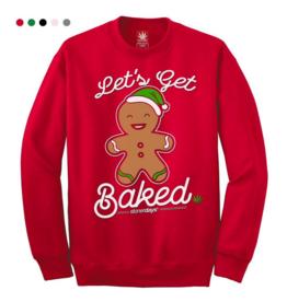 Stonerdays Let's Get Baked Crewneck Sweatshirt - X-Large / Red