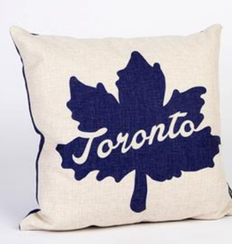Main and Local Toronto Leaf Icon Pillow