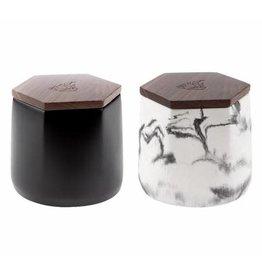 BRNT Malua - Concrete Storage Jar w/ Walnut Lid - Black