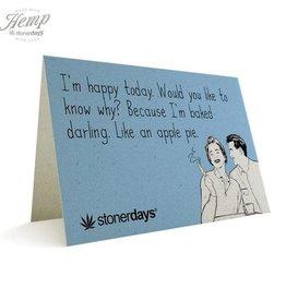 Stonerdays Baked Like An Apple Pie -Card