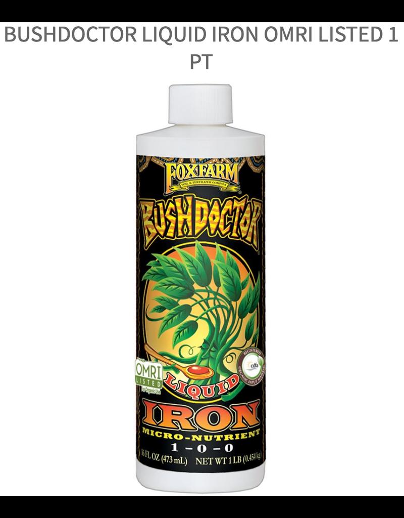 FoxFarm BushDoctor Liquid Iron OMRI listed 1 pt