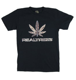 Real Trees T Shirt Black Large