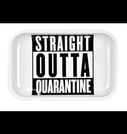 """Pulsar Pulsar 11"""" x 7"""" Metal Rolling Tray - Straight Outta Quarantine"""