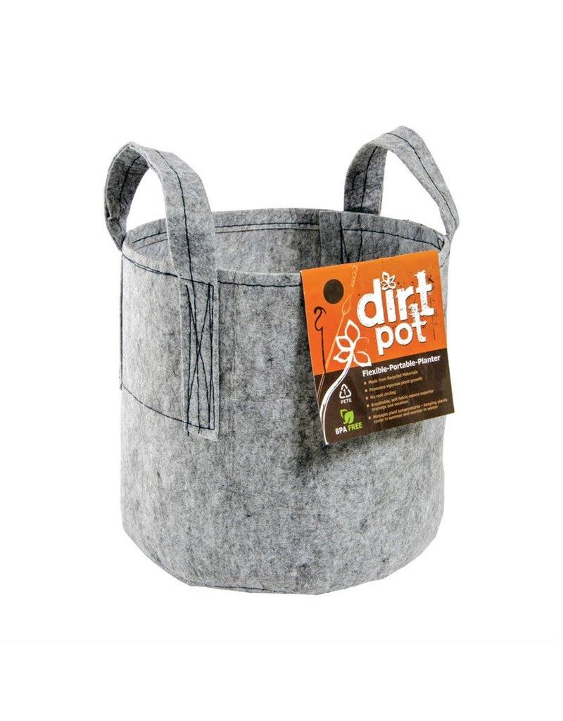 DirtPot Dirt Pot Grey 5 Gallon w/Handle