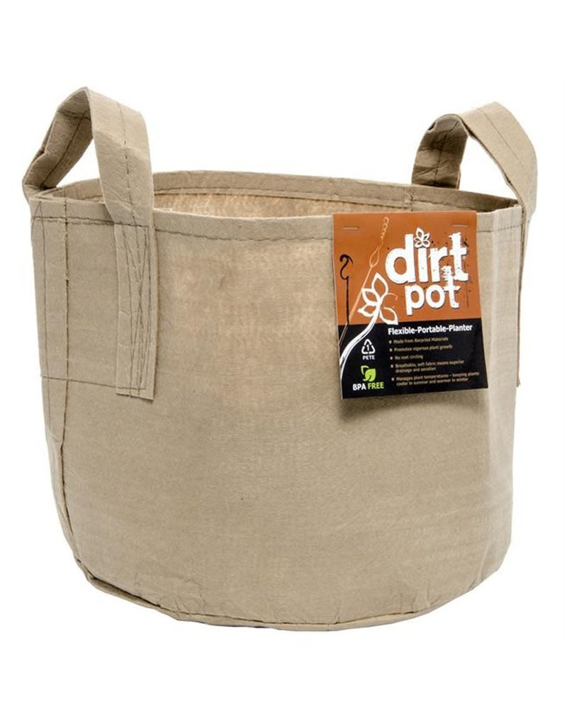 DirtPot Dirt Pot Tan 45 Gallon w/Handle