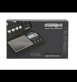 Truweigh Truweigh - Tuff-Weigh - Digital Mini Scale w/ Hard Shell Case 1000g x 0.1g - Black