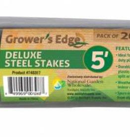 "Growers Edge Grower's Edge Deluxe Steel Stakes 7/16"" x 5' Single"