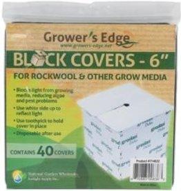 "Growers Edge Growers Edge Block Covers 6"" 40/pack"
