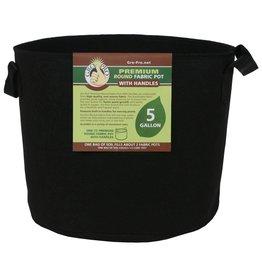 Gro Pro Gro Pro Premium Round Fabric Pot w/ Handles 5 Gallon - Black
