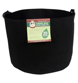 Gro Pro Gro Pro Premium Round Fabric Pot w/ Handles 20 Gallon - Black