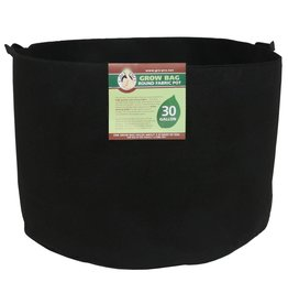 Gro Pro Premium Round Fabric Pot w/ Handles 30 Gallon - Black