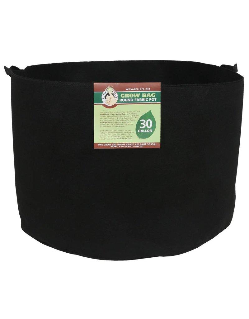Gro Pro Premium Round Fabric Pot w/ Handles 30 Gallon - Black