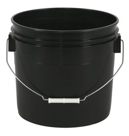 Go Pro Gro Pro Black Plastic Bucket 3.5gal US/12L (3gal Can)
