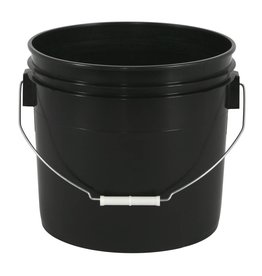 Gro Pro Black Plastic Bucket 3.5gal US/12L (3gal Can)