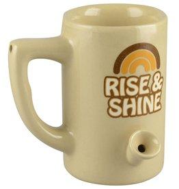 Ceramic Water Pipe Mug 8 oz - Rise & Shine