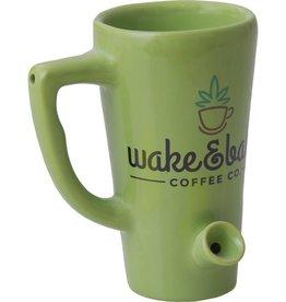 Ceramic Water Pipe Mug - 8oz - Green Wake N Bake