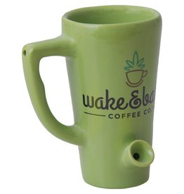 Ceramic Water Pipe Mug - 8oz - Green Wake N Bake